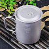 Keith Ti3204 450mL Titanium Cup with Cover - TITANIUM GREY