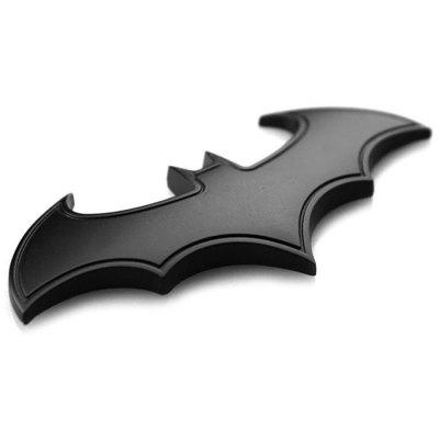 Metal 3D Car Sticker Decoration Bat Shape Pattern