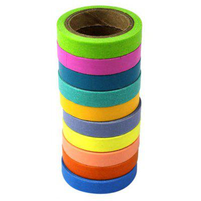 Colorful 5m 10PCS Paper Sticker Masking Tape