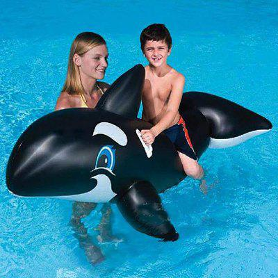 XIDUODUO Inflatable Ride-on Whale Toy with Handle Swimming ...