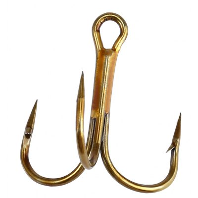100 PCS Stainless Steel Lures Fishing Treble Hooks