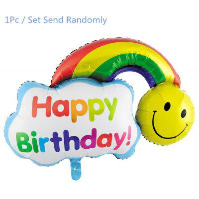 Rainbow Inflating Foil Balloon Auto-Seal Party Birthday Decor Toy for Kid / Adult