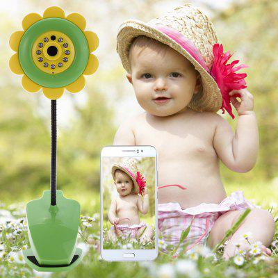 Sunflower Wireless Baby Monitor Camera with Video Two - Way Audio Night Vision Function