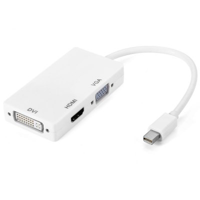 3 in 1 Mini DisplayPort to HDMI / DVI / VGA Converter