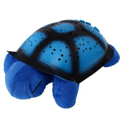 Bright Starry Night Turtle Projector Toy Wall Projection with Music