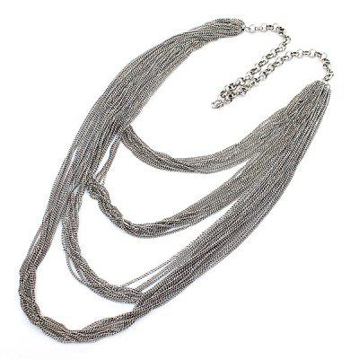 NC-837 Exquisite Multilayer Tassel Necklace Zinc Alloy for Ladies