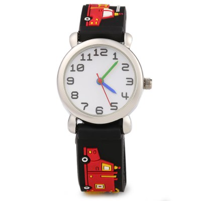 Stereo Cartoon Pattern Rubber Band Quartz Kids WatchKids Watches<br>Stereo Cartoon Pattern Rubber Band Quartz Kids Watch<br><br>Available Color: Black,Blue,Deep Green,Light Green,Orange,Pink,Purple,Purplish Red,Rose,White<br>Band material: Rubber<br>Case material: Stainless Steel<br>Clasp type: Pin buckle<br>Display type: Analog<br>Movement type: Quartz watch<br>Package Contents: 1 x Kids Watch<br>Package size (L x W x H): 21.50 x 3.70 x 1.70 cm / 8.46 x 1.46 x 0.67 inches<br>Package weight: 0.0540 kg<br>Product size (L x W x H): 20.50 x 2.70 x 0.70 cm / 8.07 x 1.06 x 0.28 inches<br>Product weight: 0.0240 kg<br>Shape of the dial: Round<br>The band width: 1.4 cm / 0.55 inches<br>The dial diameter: 2.7 cm / 1.06 inches<br>The dial thickness: 0.7 cm / 0.28 inches<br>Watch style: Fashion<br>Watches categories: Children watch<br>Wearable length: 15 - 18.5 cm / 5.91 - 7.28 inches