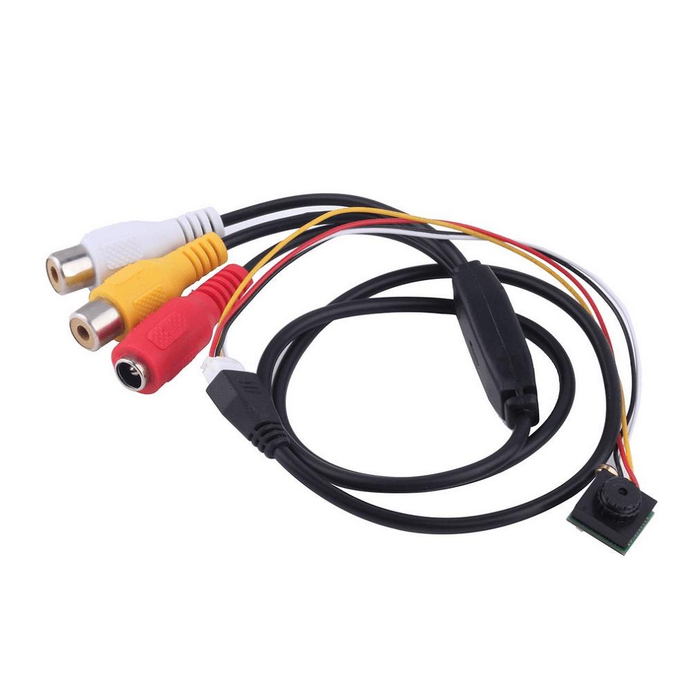 600TVL 1 / 4 1.8mm CMOS FPV 170 Degree Wide Angle Lens Camera PAL / NTSC 3.7 - 5V Accessory for DIY Project