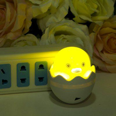 Happy Bird Shaped Light Control LED Nightlight Romantic Bedside Lamp