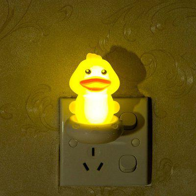 Yellow Duck Shaped LED Night Light Romantic Nightlight Bedside Lamp