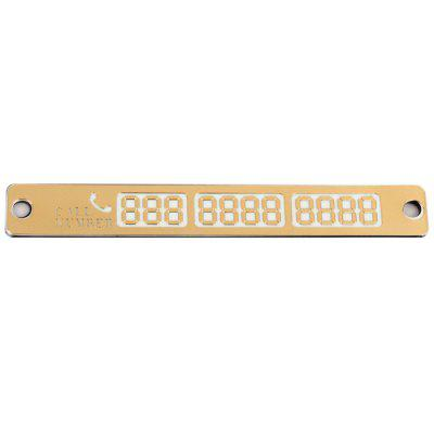 Car Parking Number Tip Plate