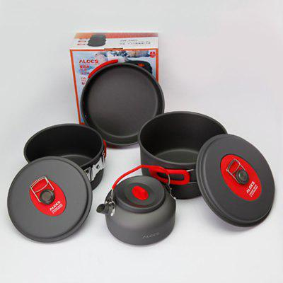 ALOCS CW-C06S Seven-piece Cookware Set Folding Handle