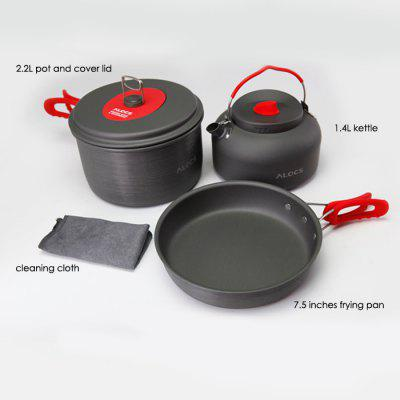 ALOCS CW-C19T Five-piece Cookware Set Folding Handle