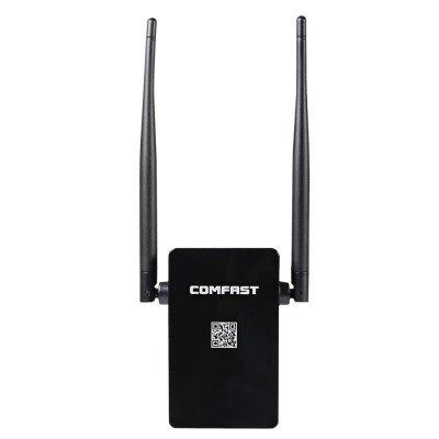 Comfast CF - WR302S 300Mbps WiFi Repeater Four ModesNetwork Cards<br>Comfast CF - WR302S 300Mbps WiFi Repeater Four Modes<br><br>Gain dBi: 5dBi<br>Interface: LAN, WAN<br>LAN Ports: Under 2 ports<br>Max. LAN Data Rate: 300Mbps<br>Model: CF - WR302S<br>Network Protocols: IEEE 802.11b,IEEE 802.11g,IEEE 802.11n<br>Package size: 18.90 x 9.50 x 5.50 cm / 7.44 x 3.74 x 2.17 inches<br>Package weight: 0.220 kg<br>Packing List: 1 x Comfast CF - WR302S Repeater Router, 1 x Web Line, 1 x Bilingual User Manual in English and Chinese<br>Product size: 16.80 x 8.80 x 4.50 cm / 6.61 x 3.46 x 1.77 inches<br>Product weight: 0.087 kg<br>Quantity of Antenna: 2<br>Router Connectivity Type: Ethernet, Wireless<br>Transmission Rate: 300Mbps<br>Type: Repeater<br>Wireless Standard: Wireless G,Wireless N