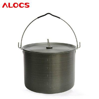 ALOCS CW-RT02 10.5L Camping Hung Pot with Folding HandleBarbecue<br>ALOCS CW-RT02 10.5L Camping Hung Pot with Folding Handle<br><br>Best Use: Camping<br>Brand: Alocs<br>Color: Titanium Grey<br>Features: Easy to use, Durable<br>Package Contents: 1 x ALOCS 10.5L Camping Hung Pot, 1 x Cover Lid<br>Package Dimension: 29.00 x 29.00 x 22.00 cm / 11.42 x 11.42 x 8.66 inches<br>Package weight: 1.418 kg<br>Product Dimension: 27.70 x 27.70 x 20.20 cm / 10.91 x 10.91 x 7.95 inches<br>Product weight: 1.290 kg<br>Type: Pot