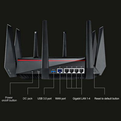 Original ASUS RT-AC5300 5334Mbps Wireless Router Tri-band AC5300 Network Device asus rt ac68u wireless router