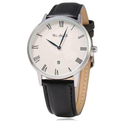 WYQ 89021 Roman Number Scale Unisex Date Quartz Watch