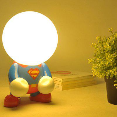 Rechargeable Superhero Cartoon LED Night Light Desk Lamp