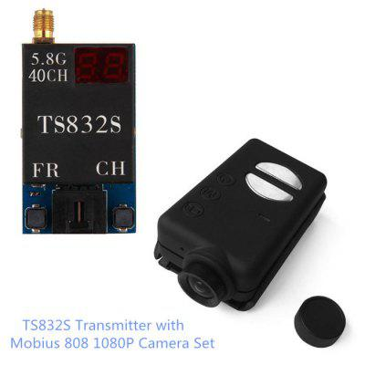 Spare TS832S 40CH 600mW 5.8G Wireless AV Transmitter + Mobius 808 1080P Camera Set for RC Drone Aerial Photograph