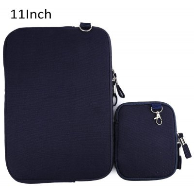 11 Inch Denim Canvas Laptop Sleeve Case