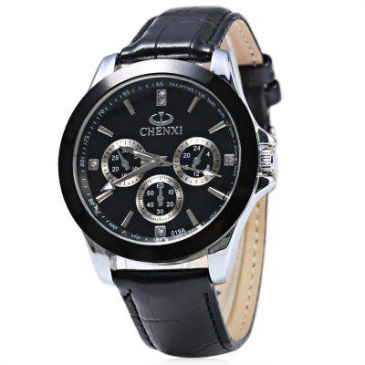 Chenxi 019A Decorative Sub-dial Nail Scale Men Quartz Watch