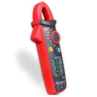 UNI-T UT210E Clamp Style Digital MultimeterMultimeters &amp; Fitting<br>UNI-T UT210E Clamp Style Digital Multimeter<br><br>AC Current: 2A / 20A / 100A<br>AC Voltage: 2V / 20V / 200V / 600V<br>Capacitance: 2nF / 20nF / 200nF / 2?F / 20?F / 200?F / 2mF / 20mF<br>DC Current: 2A / 20A / 100A<br>DC Voltage: 200mV / 2V / 20V / 200V / 600V<br>Max. Display: 2000<br>Model: UT210E<br>Package Contents: 1 x UNI-T UT210E Digital Multimeter, 1 x Probe<br>Package size (L x W x H): 20.00 x 10.00 x 6.50 cm / 7.87 x 3.94 x 2.56 inches<br>Package weight: 0.3520 kg<br>Powered by: 2 x AAA Battery<br>Product size (L x W x H): 15.50 x 6.00 x 3.35 cm / 6.1 x 2.36 x 1.32 inches<br>Product weight: 0.1700 kg<br>Resistance: 200? / 2K? / 20K? / 200K? / 2M? / 20M?<br>Type: Digital Clamp Multimeter