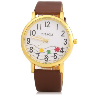 JUBAOLI 1091 Decorative Flower Ladies Quart Watch Leather BandWomens Watches<br>JUBAOLI 1091 Decorative Flower Ladies Quart Watch Leather Band<br><br>Available Color: Black,Brown,Red,White<br>Band material: Leather<br>Brand: Jubaoli<br>Case color: Gold<br>Case material: Stainless Steel<br>Clasp type: Pin buckle<br>Display type: Analog<br>Movement type: Quartz watch<br>Package Contents: 1 x Female Watch<br>Package size (L x W x H): 25.00 x 5.10 x 2.00 cm / 9.84 x 2.01 x 0.79 inches<br>Package weight: 0.058 kg<br>Product size (L x W x H): 24.00 x 4.10 x 1.00 cm / 9.45 x 1.61 x 0.39 inches<br>Product weight: 0.028 kg<br>Shape of the dial: Round<br>Style: Fashion&amp;Casual<br>The band length: 24.0 cm / 9.45 inches<br>The band width: 2.0 cm / 0.79 inches<br>The dial diameter: 4.0 cm / 1.57 inches<br>The dial thickness: 1.0 cm / 0.39 inches<br>Watches categories: Female table<br>Wearable length: 18 - 21.5 cm / 7.09 - 8.46 inches