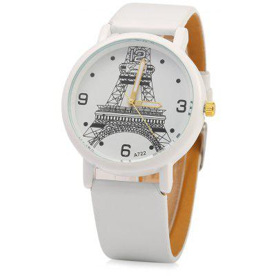 Geneva A722 Eiffel Tower Decoration Ladies Quart Watch