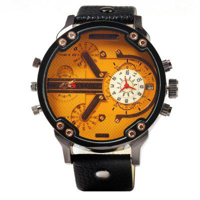 JUBAOLI 1078 Date Men Quartz Watch Genuine Leather BandMens Watches<br>JUBAOLI 1078 Date Men Quartz Watch Genuine Leather Band<br><br>Available Color: Black,Brown,Orange<br>Band material: Genuine Leather<br>Brand: Jubaoli<br>Case color: Black<br>Case material: Stainless Steel<br>Clasp type: Pin buckle<br>Display type: Analog<br>Movement type: Quartz watch<br>Package Contents: 1 x Male Watch<br>Package size (L x W x H): 28.00 x 7.00 x 2.40 cm / 11.02 x 2.76 x 0.94 inches<br>Package weight: 0.115 kg<br>Product size (L x W x H): 27.00 x 6.00 x 1.40 cm / 10.63 x 2.36 x 0.55 inches<br>Product weight: 0.085 kg<br>Shape of the dial: Round<br>Special features: Date, Decorating small sub-dials<br>The band width: 2.4 cm / 0.94 inches<br>The dial diameter: 5.2 cm / 2.05 inches<br>The dial thickness: 1.4 cm / 0.55 inches<br>Watch style: Fashion<br>Watches categories: Male table<br>Wearable length: 20.0 - 24.0 cm / 7.87 - 9.45 inches