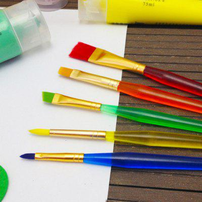 6PCS Washable Colorful Egg Painting Brush DIY Drawing Props Memphis Prices for goods
