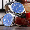 Male Dual Scale Quartz Watch Leather Strap for sale