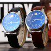 best Male Dual Scale Quartz Watch Leather Strap