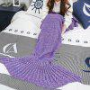 Mixture Crocheted / Knited Mermaid Tail Blanket - PURPLE - ALL AGES