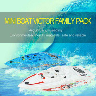CREATE TOYS 3392B Yacht Simulation Model 4 Channel RC Toy 2Pcs / Set