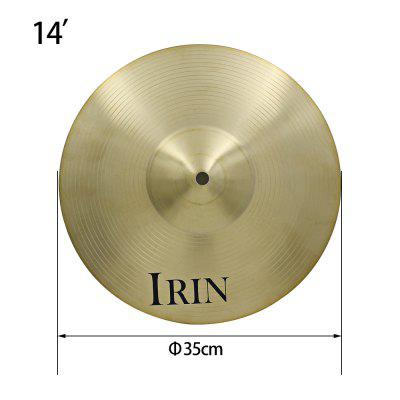 irin 14 inch hi hat cymbal brass accessory for drum set