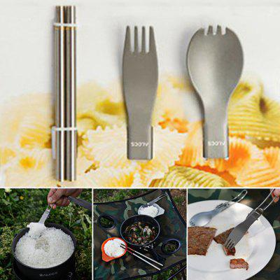 ALOCS TW-106 3 in 1 Folding Chopsticks Fork Spoon