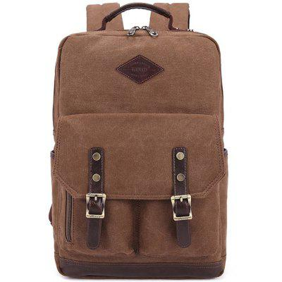 KAUKKO ZP20 15L Retro Style Unisex Canvas Backpack