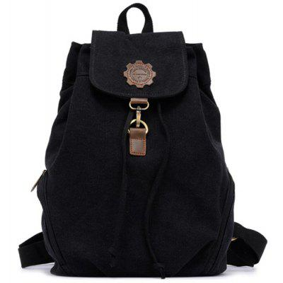 KAUKKO FJ19 13L Retro Style Women Canvas Backpack