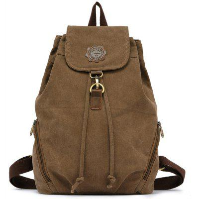 Buy KHAKI KAUKKO FJ19 13L Retro Style Women Canvas Backpack for $18.08 in GearBest store