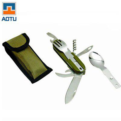 AOTU AT6364 8 Functions in 1 Folding Knife Cutlery Set