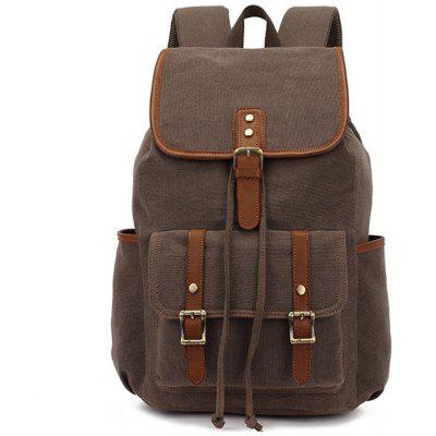 KAUKKO FS227 24L Retro Style Unisex Canvas Backpack