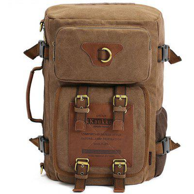 KAUKKO FH05 22L Men Multi-function Canvas Backpack