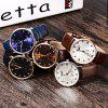 GUANQIN GJ16016 Fashionable Men Mechanical Watch - WHITE AND ROSE GOLD