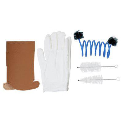3 in 1 Trumpet Gloves Protective Cover Case Brush Cleaning Kit