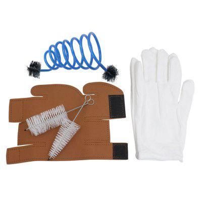 3 in 1 Trumpet Gloves Protective Cover Case Brush Cleaning KitBrass<br>3 in 1 Trumpet Gloves Protective Cover Case Brush Cleaning Kit<br><br>Material: Leather,  Plastic,  Metal,  Cloth<br>Package Contents: 1 x Protective Cover, 3 x Brush, 1 x Pair of Gloves<br>Package size: 15.00 x 5.00 x 5.00 cm / 5.91 x 1.97 x 1.97 inches<br>Package weight: 0.094 kg<br>Type: Trumpet Accessory