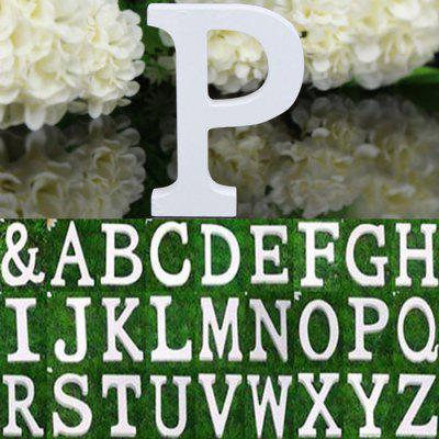Creative Wooden English Letter Decors DIY Alphabet Craft Ornament
