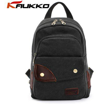 KAUKKO FJ75 6L Multi-function Women Canvas Backpack