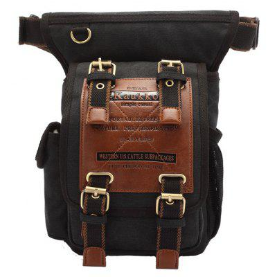 KAUKKO FH07 5L Men Canvas Waist Leg Bag