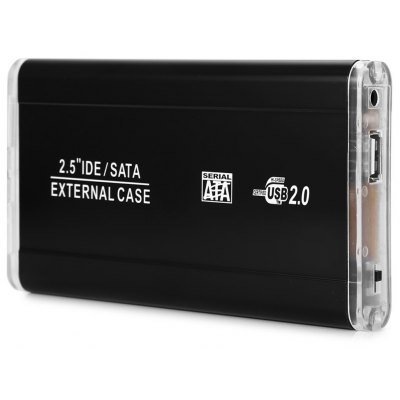 2.5 inch IDE SATA Hard Disk Drive External Enclosure Case