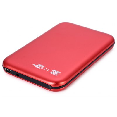 Buy RED 2.5 inch USB 2.0 SATA HDD Hard Drive Disk External Enclosure Case for $9.74 in GearBest store